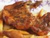 Cotlet de porc cu macaroane si cartofi la cuptor
