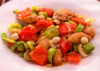 Piept de pui in stil asiatic marinat in sos de soia