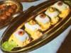 Rulouri de salau pe salata de telina cu mere
