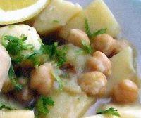 Mancare de cartofi cu naut